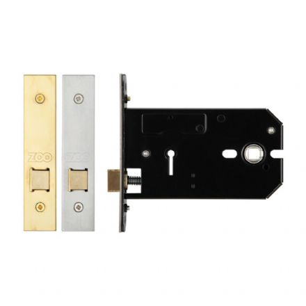 Zoo Hardware ZUKH127PVD Horizontal Mortice Latch Polished Brass 127mm